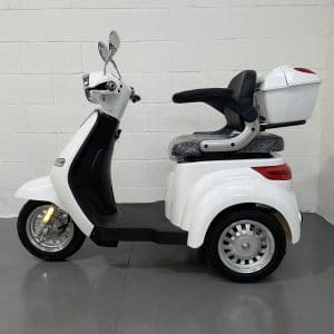 Large White 3 Wheel Mobility Scooter